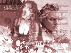 "MILENIO'S FEATURE STORY ON THE GREAT KAT ""DOUBLE-EDGED GUITARIST""! ""To play faster is impossible. Great Kat is the fastest woman in the world of metal. Guitarist who reinvents Beethoven with great speed. Beethoven's Guitar Shred, a DVD which puts her virtuosity to the service of these musical geniuses, makes your hair stand on end. Her CDs are gems of virtuosity and ahead of time, always premised on speed. The guitarist makes the music flow and electrifies the senses, and she reminds us how great were those who contributed these notes to the history of music, and as with the metal, she knows how to combine them perfectly."" - Israel Morales, Milenio (Mexico)"