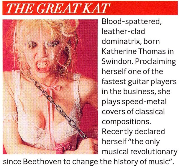 "Q MAGAZINE'S ""WOMEN IN MUSIC SPECIAL"" FEATURES THE GREAT KAT!"