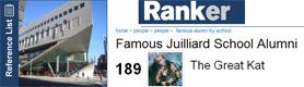 "THE GREAT KAT NAMED ""FAMOUS JUILLIARD SCHOOL ALUMNI"" BY RANKER.COM!"