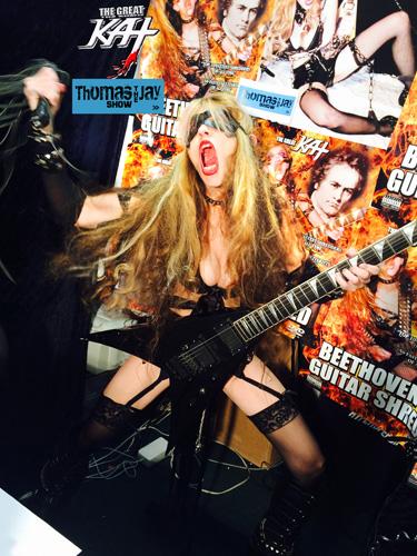 "JAY THOMAS SHOW INTERVIEWS THE GREAT KAT! ""You can play SO FAST! WOW! Unbelievable! Unbelievable!"" JAY THOMAS, Famous ""Lone Ranger"" Story Teller, Interviews THE GREAT KAT, Famous ""Lone Shredder""! NEW YouTube Video of Outrageous JAY THOMAS SHOW Interview with THE GREAT KAT, World�s Fastest Guitar Shredder on SiriusXM! WATCH HIGHLIGHTS NOW: http://youtu.be/PQBgNoCld9E"