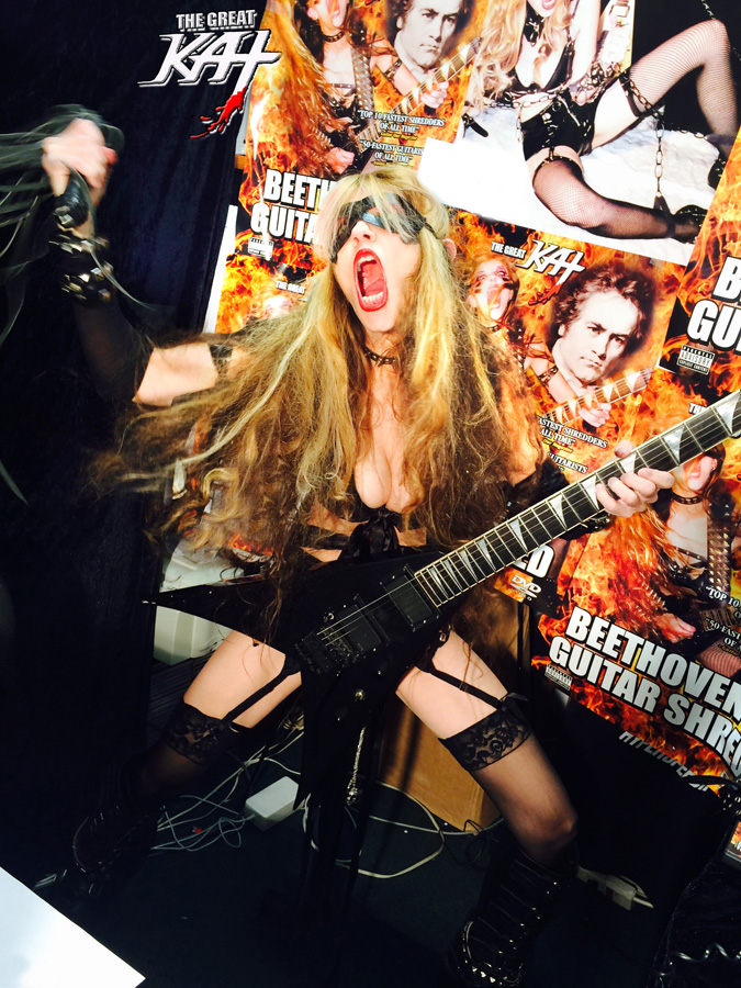 "ATT. RADIO SHOWS!! The Great Kat Famous Thrash Goddess/""TOP 10 FASTEST SHREDDERS OF ALL TIME"" (""Guitar One"" Mag)/Juilliard Grad Violin Virtuoso/""Reincarnation of Beethoven"" is Available for 5 Minute ""Hyperspeed"" PHONE INTERVIEWS & RADIO IDS for your radio show!"
