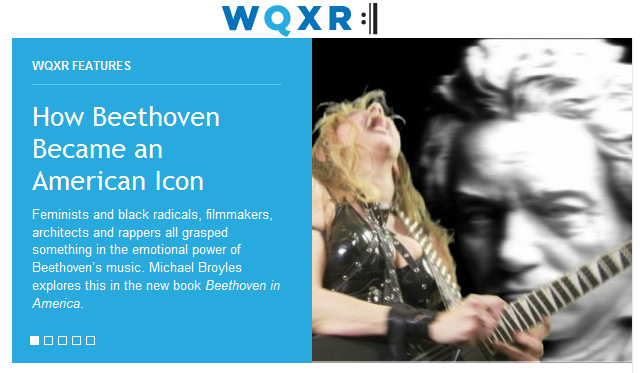 """WQXR CLASSICAL RADIO FEATURES THE GREAT KAT IN """"HOW BEETHOVEN BECAME AN AMERICAN ICON""""! """"Ludwig Through the Lens of Filmmakers, Activists, Rockers and Rappers. The Great Kat riffs on Beethoven."""" - By Brian Wise, WQXR Classical Radio"""