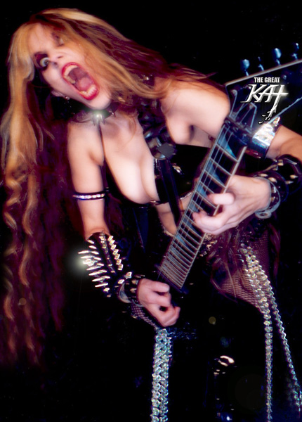 """""""Rock Chick"""" definition in """"Urban Dictionary"""": """"Good examples of rock chicks include Guitarist Great Kat (aka Katherine Thomas)-- who is known for her extremely technical shredding."""""""