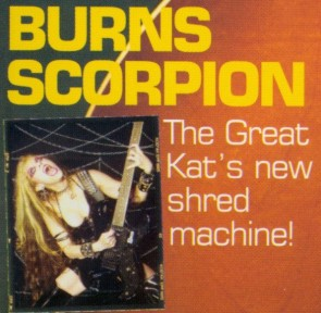 "The Great Kat Cover Story ""Burns Scorpion: The Great Kat's new shred machine!"" in Guitar Buyer Magazine (CLOSE-UP)"