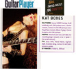 """The Great Kat POSTER in GUITAR PLAYER MAGAZINE! """"KAT BOXES""""-The Great Kat Shred Guitar Gear from Guitar Player Magazine's Interview with The Great Kat """"SHE WHO MUST BE OBEYED""""!"""