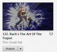 "iTUNES' METAL ""TOP MUSIC VIDEOS"" FEATURES THE GREAT KAT'S BACH'S ""THE ART OF THE FUGUE"""