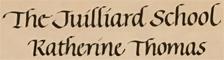 KATHERINE THOMAS, VIOLIN VIRTUOSO, HONORS GRADUATE of THE JUILLIARD SCHOOL