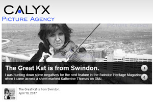 "Calyx Picture Agency, Swindon England Features Katherine Thomas Violin Virtuoso (The Great Kat)! ""The Great Kat is from Swindon"" Calyx News, Swindon Archive, Swindon News 