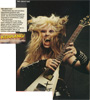 """KERRANG MAGAZINE FEATURES THE GREAT KAT POSTER! """"THE GREAT KAT. Desperately shy and sensitive hyperspeed guitarist who insists on introducing herself as 'God!', the Great Kat (Katherine Thomas) is nonetheless a pillar of the bemused. The Great Kat, in her time, once refused to make another album until her debut turned Platinum and insisted her record company fix it for her to play Donington. She is, of course, a law unto herself."""""""