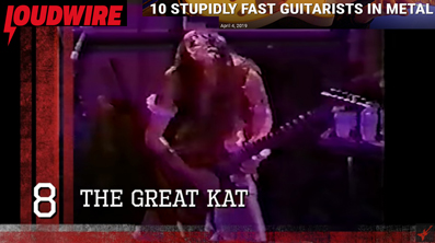 Loudwire Magazine�s �10 Stupidly Fast Guitarists in Metal� Names The Great Kat Guitar Shredder in Their Top 10 Video List!