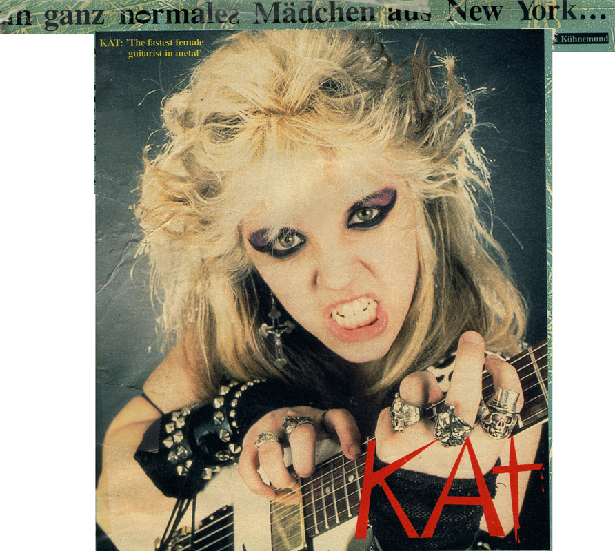 """GOTZ KUHNEMUND'S INTERVIEW WITH THE GREAT KAT in METAL HAMMER MAGAZINE! """"JUST A NORMAL GIRL FROM NEW YORK""""! KAT: """"The fastest female guitarist in metal"""""""