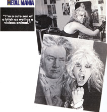 "METAL MANIA MAGAZINE'S INTERVIEW WITH THE GREAT KAT ""THE GREAT KAT METALIZES BEETHOVEN ON SPEED""! ""I'm a cute son of a bitch as well as a vicious animal."""
