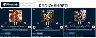 "RHAPSODY SHRED RADIO FEATURES THE GREAT KAT! ""Rhapsody's Shred Radio. The station is centered around the fleet fingers and virtuoso fretwork of wizards like The Great Kat."" - By Chuck Eddy, Rhapsody Shred Radio (June 3, 2014). Listen to Rhapsody Shred Radio: The Great Kat�s Sarasate�s �Carmen Fantasy�, �War�, Bach�s �Brandenburg Concerto #3�, and Wagner�s �The Ride Of The Valkyries� at http://www.rhapsody.com/blog/post/radio-shred"