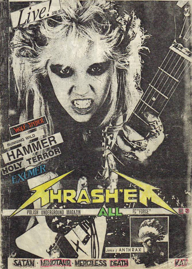 """THRASH 'EM ALL'S COVER STORY INTERVIEW with THE GREAT KAT! """"Features and interviews with The Great Kat""""! In Issue #3 (POLAND)"""