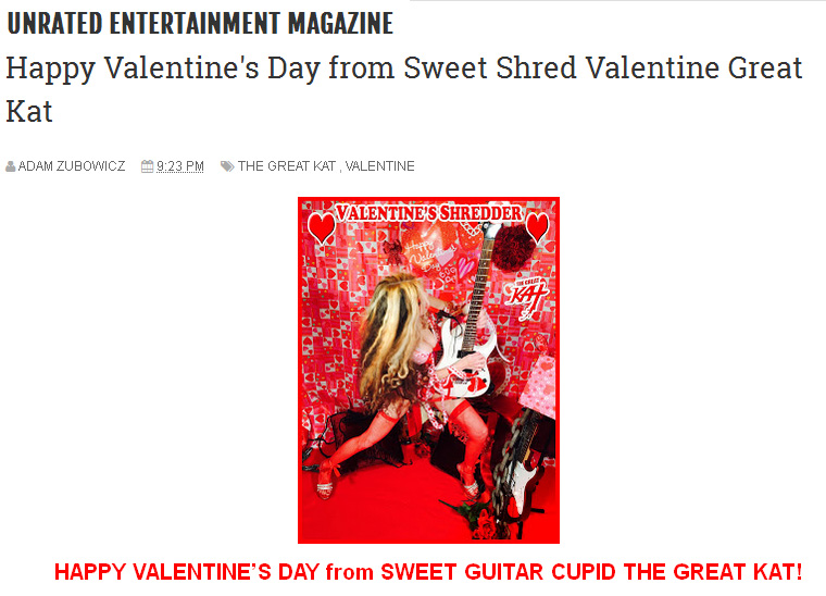 UNRATED ENTERTAINMENT MAGAZINE FEATURES THE GREAT KAT!