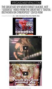 "VEGAS24SEVEN.COM features The Great Kat! ""The Great Kat 9/11 Never Forget Quickie, Hot 'Goddess' Video"""