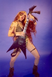 """The Great Kat's """"Extreme Guitar Shred"""" DVD Review in Metalwhore Webzine"""