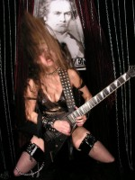 "VENEZUELA METAL FEATURES THE GREAT KAT IN ""GUITARS PLAYED BY GOD'S HANDS"" ""One of the best guitarists in terms of command of the guitar, Katherine Thomas better known as 'The Great Kat'.  Undoubtedly, a girl with a big ego but extremely talented.""- By Susana Garcia de Alonzo, Venezuela Metal"