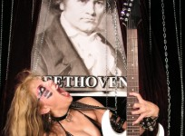 "GUITAR PLAYER MAGAZINE BRAZIL'S INTERVIEW WITH THE GREAT KAT ""THE GREAT KAT 'FRIES' BEETHOVEN""! ""She is fast, technical and devilish when she plays and it connects very well to classical music. Great Kat almost makes sparks out of her fingers. The Beethoven's Guitar Shred DVD is her newest product, which features breathtaking tracks. For those who like speed, she bangs!"" - By Henrique Inglez de Souza, Guitar Player Magazine Brazil, April 2010"
