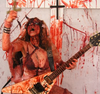 "DECIBELS STORM'S INTERVIEW WITH THE GREAT KAT! ""The high priestess of shred/classical is to metal what Beethoven is to classical music. The Great Kat shows that the extreme guitar can marry well with the classical greats such as Beethoven, Rossini, Wagner."" - By Arzhu, Decibels Storm"