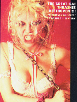 "The Great Kat's ""BEETHOVEN ON SPEED"" CD!"