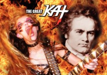 "TAKI'S MAGAZINE FEATURES THE GREAT KAT IN ""DEATH (METAL) OF THE WEST""! ""Is it really a surprise that heavy metal is popular gateway to classical music as well? Beethoven meets jaw-dropping Great Kat."" - Nina Kouprianova, Taki's Magazine"