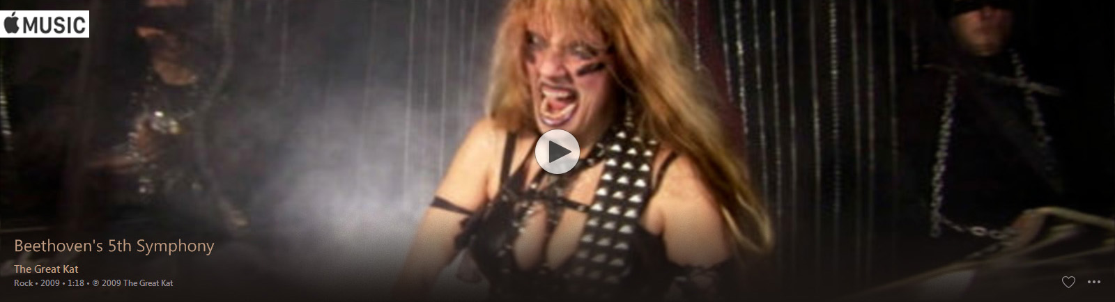 "APPLE MUSIC is NOW STREAMING The Great Kat's BEETHOVEN'S ""5th SYMPHONY"" MUSIC VIDEO!"