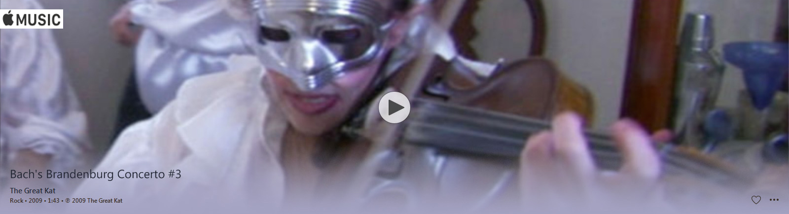 "APPLE MUSIC is NOW STREAMING The Great Kat's BACH'S ""BRANDENBURG CONCERTO #3"" MUSIC VIDEO!"