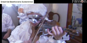 "FILMON HORROR NETWORK IS BROADCASTING THE GREAT KAT'S ""BEETHOVEN'S GUITAR SHRED"" DVD!"