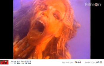 "FILMON HORROR NETWORK is PLAYING THE GREAT KAT'S ""EXTREME GUITAR SHRED"" DVD TUES 8/26 & WED 8/27! ""Enjoy the best in horror and bizarre films, specials and documentaries from the dark side of ART."""