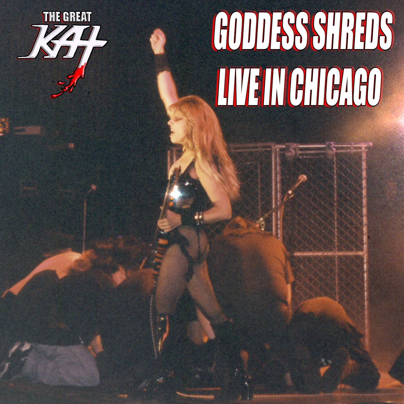 """THE GREAT KAT """"GODDESS SHREDS LIVE IN CHICAGO"""" SONG SINGLE PHOTO!"""