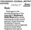 "PROVIDENCE JOURNAL FEATURES ""BEETHOVEN'S GUITAR SHRED"" DVD! ""Thrill again to the electrifying playing of The Great Kat in Beethoven's Guitar Shred."" - Michael Janusonis, Providence Journal"