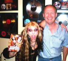 The Great Kat with Scott Hull & Andy VanDette at Masterdisk-Music Mastering Studio where The Great Kat masters Shred/Classical Music (with Howie Weinberg)!