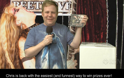 """IGN FEATURES THE GREAT KAT'S """"BEETHOVEN SHREDS"""" CD ON IGN'S """"FREE SH*T"""" THE ONLINE GAME SHOW WITHOUT A GAME! WIN """"BEETHOVEN SHREDS"""" CD! """"The Great Kat presents 'Beethoven Shreds'. This is definitely my favorite classical speed metal record of the year. You can win this."""" By Chris Carle, IGN"""