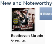 """iTUNES CHOOSES THE GREAT KAT'S """"BEETHOVEN SHREDS"""" CD AS """"NEW AND NOTEWORTHY"""" METAL!"""