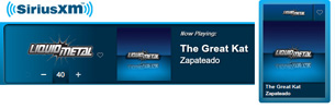 SIRIUS XM RADIO FEATURES THE GREAT KAT'S &quot;ZAPATEADO&quot; on Sirius XM's &quot;Bloody Roots: A Metal Lesson in Violins&quot;! &quot;Prepare for a lesson in metal violins you wont soon forget. Hectic arpeggios of violin shredder The Great Kat. The Great Kat-'Zapateado' from WAGNERS WAR&quot;. &quot;Female shredder named The Great Kat, who actually began life as a Juilliard Music School violin prodigy and then discovered heavy metal guitar. Something by her returning to brutal violin.&quot; - Ian Christe, SiriusXM Liquid Metal. &quot;'Zapateado' from WAGNERS WAR&quot; - LISTEN NOW 