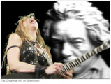 "WQXR CLASSICAL RADIO FEATURES THE GREAT KAT IN ""HOW BEETHOVEN BECAME AN AMERICAN ICON""! ""Ludwig Through the Lens of Filmmakers, Activists, Rockers and Rappers. The Great Kat riffs on Beethoven."" - By Brian Wise, WQXR Classical Radio"