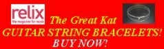 NEW! RELIX Magazine's The Great Kat GUITAR STRING BRACELETS! BUY NOW!