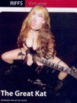 "GUITAR PLAYER MAGAZINE BRAZIL INTERVIEW with THE GREAT KAT!! ""In the matter of virtuosity, the speed metal guitarist, The Great Kat, leaves you stunned. The guitarist makes an impression with her dominance of speed techniques."" - By Henrique Inglez de Souza, Guitar Player Magazine Brazil (Issue #136)"