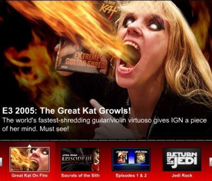 SEE! Great Kat Video Interview on IGN.COM By Chris Carle!
