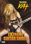 "MISTER GROWL'S REVIEW OF THE GREAT KAT'S ""EXTREME GUITAR SHRED"" DVD! ""The Great Kat. 'Extreme Guitar Shred'. Should be watched rabidly by the fans that worship the Great Kat. Not only does she rain fiery words of degradation down on her servants, but she also dispatches her victims with blood slick on her face, fret-burning fingers, and cleavage. These are moments of pure heavy metal excess that, for a dedicated fan of the Great Kat, will be their raison d'etre. This is essential for the fans who say they worship their Classical-Shred Messiah."" - Mister Frasier, Mister Growl"