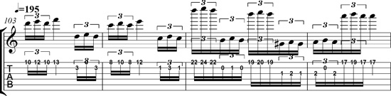 "THE GREAT KAT GUITAR TABLATURE for PAGANINI'S ""CAPRICE #24"""