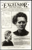 Madame Curie, Scientist, in what looks like a POLICE MUG SHOT in France's Excelsior Magazine's SMEAR Campaign to Prevent Her from Entering the Academy of Sciences in 1911.