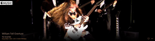 "APPLE MUSIC is NOW STREAMING The Great Kat's ROSSINI'S ""WILLIAM TELL OVERTURE"" MUSIC VIDEO!"