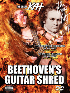 """AUTOGRAPHED POSTER! 18"""" x 24"""" FULL-COLOR POSTER of """"Beethoven's Guitar Shred"""" DVD Cover!"""