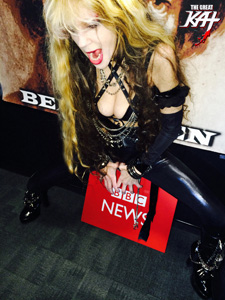 "THE GREAT KAT SHREDS BBC RADIO'S NY STUDIO TODAY (Oct. 27, 2014) with RAINER HERSCH IN LONDON! STAY TUNED for THE GREAT KAT INTERVIEW ON BBC RADIO'S ""FAST AND FURIOSO"" SHOW!"