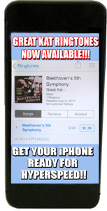 iTUNES PREMIERES THE GREAT KAT�S SHREDCLASSICAL RINGTONES � BRING BEETHOVEN, BACH, PAGANINI TO YOUR IPHONE!!