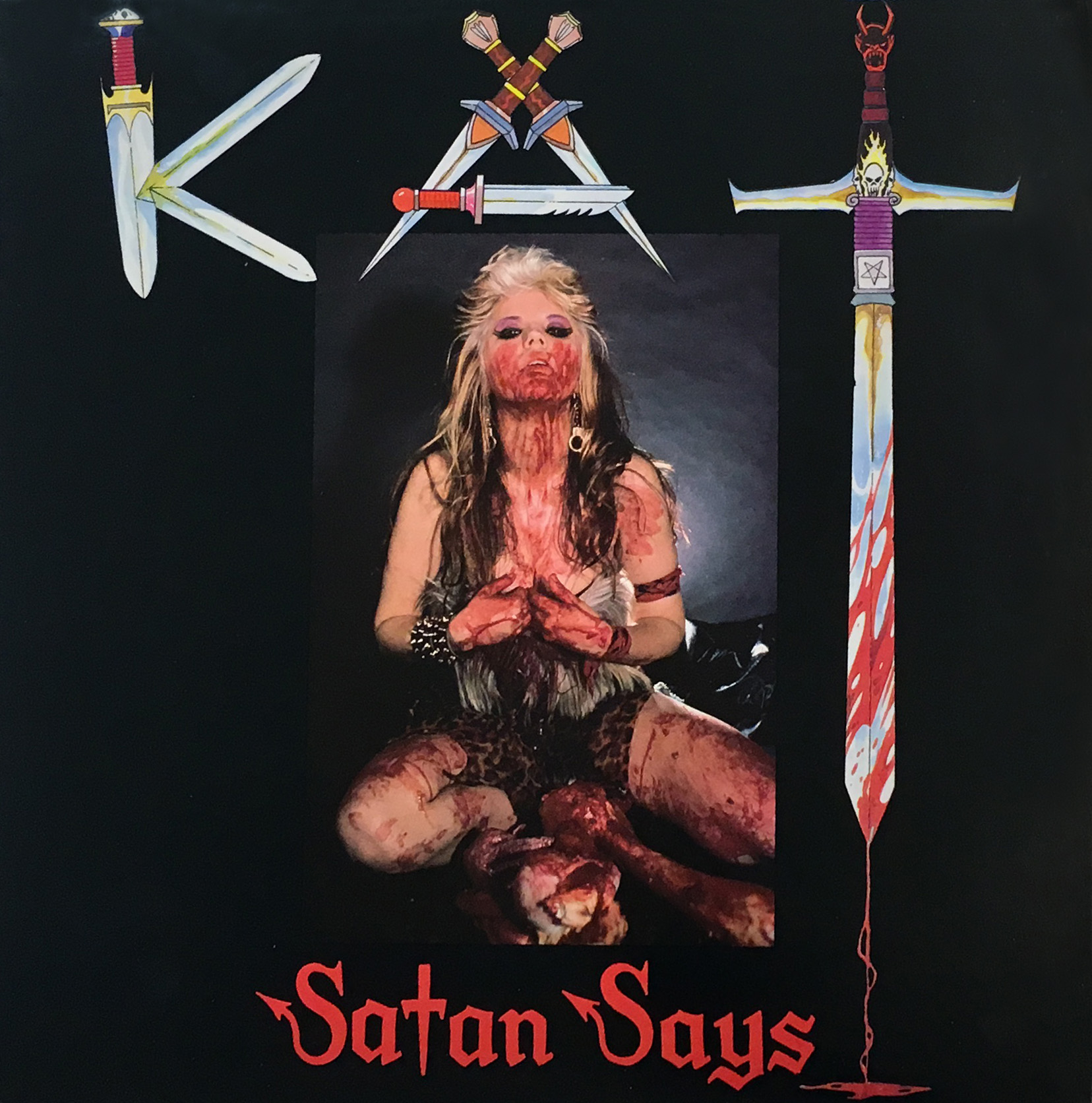 "The Great Kat ""SATAN SAYS"" VINYL Photo"