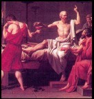 Socrates, Philosopher, prepares to carry out his death sentence by drinking hemlock. Socrates followers are upset, while Socrates makes a toast to the gods and drank the poison.
