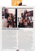 "The FAMOUS SPIN MAGAZINE INTERVIEW with THE GREAT KAT on SPIN.COM!! ""Faster, Pussy Kat, Kill! Kill! Meet the speediest, scariest female shredder of all time"" - SPIN Magazine"